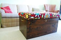 Turn an old trunk into a functional and stylish storage ottoman!
