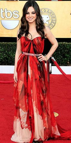 Mila Kunis in Alexander McQueen, SAG Awards 2011