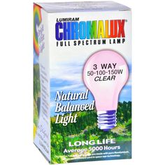 chromalux standard clear 3 way light bulb 1 bulb