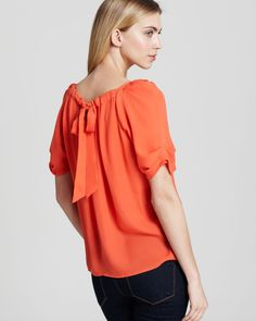 Joie Top - Eleanor Matte Silk   Bloomingdale's