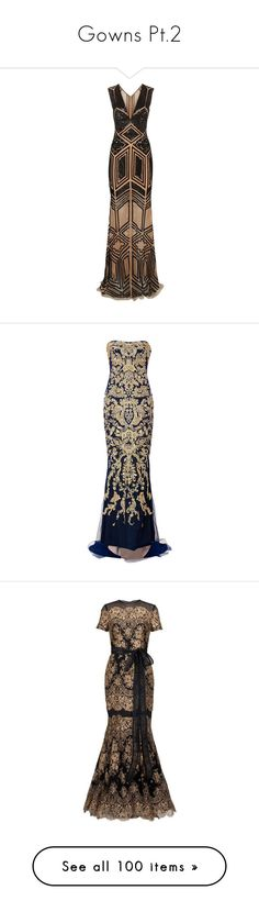 """""""Gowns Pt.2"""" by amalilly619 ❤ liked on Polyvore featuring dresses, gowns, vestidos, long dresses, zuhair murad, beaded dresses, tulle ball gown, brown gown, deep v neck dress and deep v neck gown"""