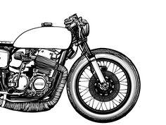 Honda Cafe Racer design by TomaszKobus Motorcycle Tattoos, Motorcycle Logo, Motorcycle Posters, Motorcycle Design, Bike Design, Cafe Racer Style, Cafe Racer Bikes, Cafe Racer Honda, Cafe Racers