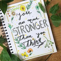 Somos mas fuerte de lo que pensamos. 💚 . . . . . . . . . #ser#seresencia #frases #inspiración #selfcare #terapiaconarte…