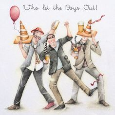 Cards » Who let the Boys Out » Who let the Boys Out - Berni Parker Designs