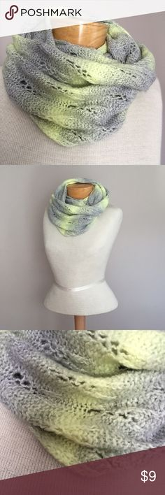 """American Eagle Outfitters infinity scarf American Eagle Outfitters infinity scarf. Grey and yellow. Acrylic/poly. 50"""" American Eagle Outfitters Accessories Scarves & Wraps"""