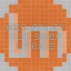 Red Foley - Old Shep Lyrics