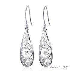 1 Paar Ohrhänger Tropfen aus 925 Silber im Etui