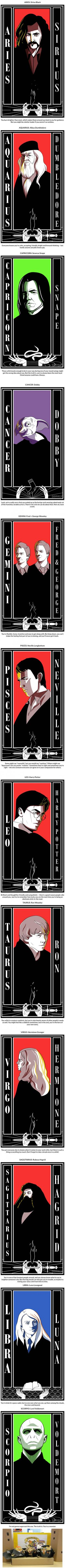 Harry Potter Characters as The 12 Zodiac Signs