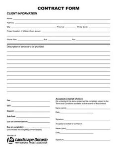 free-printable-landscape-contract-forms_177775.png (1275×1650 ...
