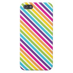 Colorful Stripes Cool iPhone 5 Cases for Girls