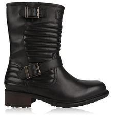 Barbour Dera Boots (5.980 RUB) ❤ liked on Polyvore featuring shoes, boots, black, leather buckle boots, genuine leather boots, leather biker boots, black boots and black motorcycle boots
