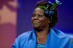 """Inspirational quotes by famous women: WANGARI MAATHAI """"There are opportunities even in the most difficult moments."""""""