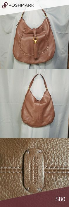 """Ralph Lauren  Brown leather purse New never used Brown leather with brass hardware  14"""" length 14""""width 12"""" strap drop Ralph Lauren Bags Shoulder Bags"""