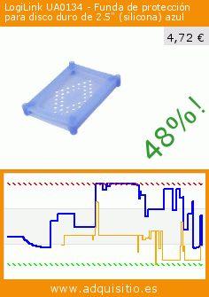 """LogiLink UA0134 - Funda de protección para disco duro de 2.5"""" (silicona) azul (Accesorio). Baja 48%! Precio actual 4,72 €, el precio anterior fue de 9,00 €. http://www.adquisitio.es/logilink/ua0134-635-mm-25-azul-29"""