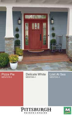 Create A Welcoming Entrance To Your Home With Pittsburgh Paints Stains Grand Distinction Exterior Flat Paint And Primer In One