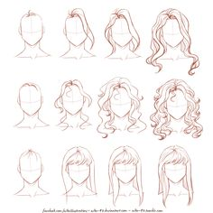 How I draw long hair...