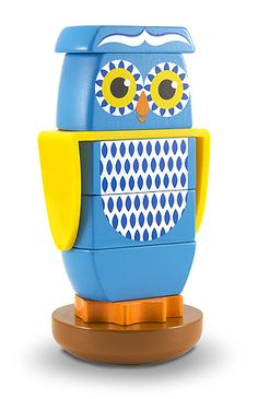 Wooden Owl Stacker Toddler Toy | Toys for 12-24 month olds | Melissa and Doug