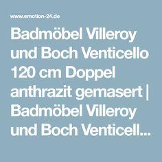 Badezimmer Badmöbel Villeroy und Boch Venticello 120 cm Doppel anthrazit gemasert | Badmöbel Villeroy und Boch Venticello 120 cm Doppel anthrazit gemasert | Badmöbel mit Waschbecken | Badmöbel | Badmöbel aus eigener Produktion ohne Versandkosten