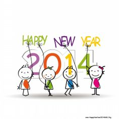 Kids Wallpapers of Happy New Year 2014_2