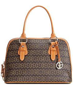 I like this Giani Bernini Handbag, Block Signature Dome Satchel, its pretty