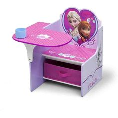 kids desk and chair set Disney Frozen Chair Desk with Storage Bin by Delta Children - Traveller Location Toddler Desk And Chair, Desk And Chair Set, Toddler Furniture, Desk Chairs, Desk Set, Desk Lamp, Art Desk, Study Desk, Table Desk