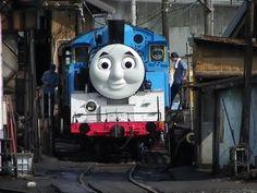 大井川鐡道 SLトーマスお披露目運転【Japanese Thomas Unveiling run】 - YouTube