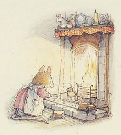 How once toast was toasted - Whimsical delicate vintage illustration.