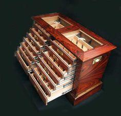Custom Handmade Cigar Humidors by Arlin Liss. Me likey!