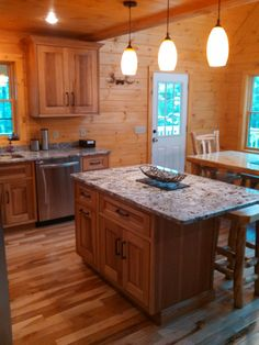 Rustic Hickory Kitchen, Nester's Kitchen & Bath, Intervale, New Hampshire