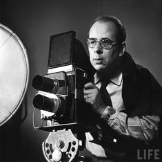 """Philippe Halsman (1906 – 1979) was a Latvian-born American portrait photographer. Halsman is best known for his jumping photographs of famous subjects from the middle of the 20th century. Halsman's body of work also includes surreal portraits of the artist Salvador Dali. Halsman commented, """"When you ask a person to jump, his attention is mostly directed toward the act of jumping and the mask falls so that the real person appears."""""""