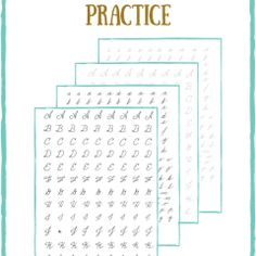 A collection of free resources for handwriting & lettering practice worksheets. Learn calligraphy through easy free worksheet printables! Handwriting Practice Worksheets, Learn Handwriting, Improve Your Handwriting, Handwriting Analysis, Calligraphy Handwriting, Learn Calligraphy, Penmanship, Calligraphy Worksheets Free, Caligraphy