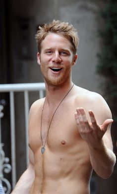 Jake McDorman got snapped shirtless on the set of Manhattan Love Story.