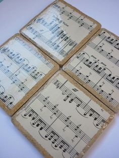 Musical Coasters by DaintyCreations on Etsy, $20.00  Music teacher gift