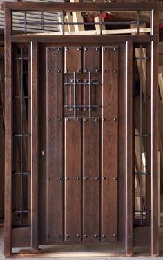 Puertas rusticas forja buscar con google hacienda - Puerta rustica exterior ...