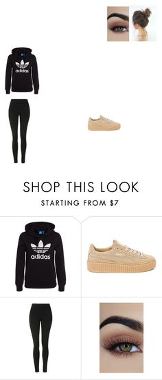 """""""Untitled #653"""" by melissaperez427 on Polyvore featuring adidas Originals, Puma and Topshop"""