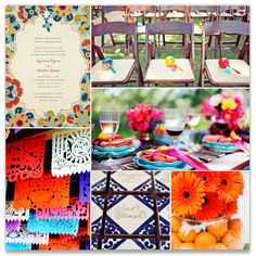 Fiesta Wedding inspiration on Minted.com    spanish theme / mexican theme / fiesta / papel picado / spanish rustic theme