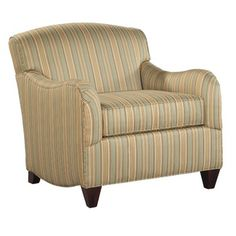 Hekman Diana Chair in Multi-Colored Stripes