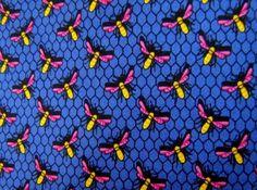 ROBERT TALBOTT Blue/Black/Pink/Yellow Insect Bumble Bee Honey Comb Silk Neck Tie #RobertTalbott #Tie