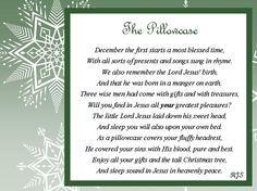 """Adorable Faith Based Christmas poem for a """"christmas pillowcase"""" Tall Christmas Trees, Christmas Poems, 12 Days Of Christmas, A Christmas Story, Christmas Projects, Christmas Traditions, Christmas Holidays, Christmas Decorations, Christmas Ornaments"""