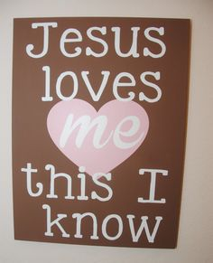 Jesus love me this I know - custom canvas quote wall art
