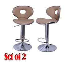 Frugah New Light Coffee Set of 2 Swivel Bar Stools Fashion Pub Home Adjustment Barstool by homcom. $89.99. Can rotate 360 degrees. Come complete with chrome foot rest. Rubber ring bottom to prevent floor from scratching. Come with a full gloss enamel to resist scratching. Easy to assemble. Modern stool design and durability rejuvenate your kitchen or home bar. Can adjust the height. Adjustable gas lift tested. An extraordinary stool, for buyers with great taste. Our st...