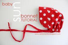 delia creates: Red: Sun Bonnet