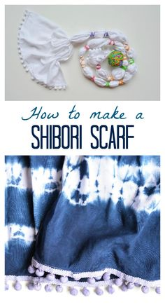 Learn how to make a Shibori scarf, DIY, step by step tutorial. These scarves make great gifts.