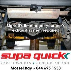 Signs it's time to get your car's exhaust system repaired, Read more here: http://on.fb.me/1eyQ0YY #exhaust #repairs