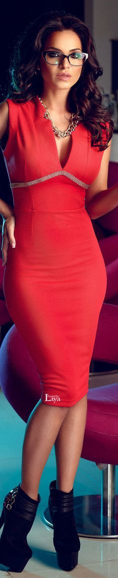 34 Pretty red dress pic  @roressclothes closet ideas women fashion outfit clothing style
