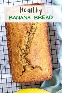 Easy and healthy banana bread recipe that's fluffy and full of flavor and moist. Perfect for breakfast with your coffee, as a mid-afternoon snack or as a dessert. #bananabread #healthybananabread #healthybread #healthyrecipe #dessert via @healthyfitnessmeals Healthy Bread Recipes, Banana Bread Recipes, Healthy Treats, Snack Recipes, Diabetic Recipes, Delicious Recipes, Diet Recipes, Recipies, Make Banana Bread