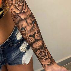Girl Arm Tattoos, Dope Tattoos, Baby Tattoos, Badass Tattoos, Pretty Tattoos, Body Art Tattoos, Leo Tattoos, Tattoo Girls, Tribal Tattoos