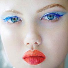 Love the eye makeup matching eye color - lindsey wixson