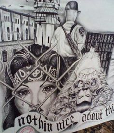 Love this drawing its that gangsta pinta love