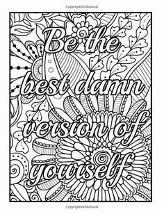 "Coloring Page The swearing words ""Zero fuks to give"